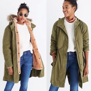 Madewell Bedford Convertible Parka Fishtail Jacket